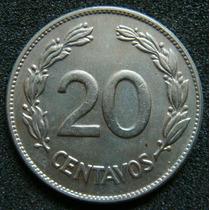 Moedas - Equador - 20 Centavos 1945 - Sob