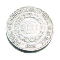 Moeda De 2000 Réis Em Prata Brasil Império 1865 0581