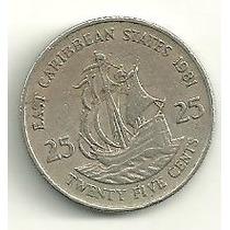 Caribe Estados Do Leste ( East ) - 25 Cents 1981