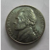 Usa: Bela Moeda 5 Cents 1998 D - S/fc
