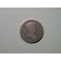 Moeda Peru 1 Real 1817 -jp- Prata