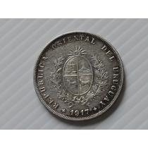 Uruguai 50 Cent. 1917 Prata 900 12,5 Gr