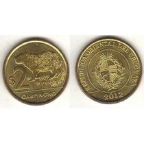 Moedas Do Uruguai 2 Pesos 2012 - Capivara Fc