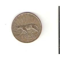 Linda Moeda De Prata Do Uruguai De 1 Peso De 1942 !!!