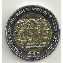 Uruguai - 10 Pesos - Bicentenário Regimento De Terras - 2015