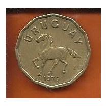 Moeda Uruguai 10 Centesimos Pesos 1976 Cavalo 18mm