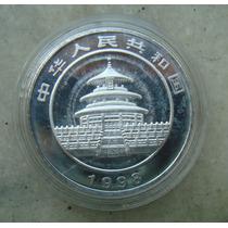 Panda China, Proof, Banho Prata, 1998 - 40 Mm - Fc Acrilico