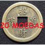 20 Moedas Chinesa Feng Shui Colar Sorte Fortuna Frete R$9,99