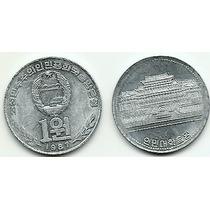 Coreia Do Norte, Moeda De 1 Won, 1987, Al, Fc