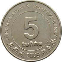 Turcomenistão - 5 Tenge 2009