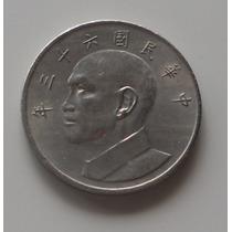 Moeda De Taiwan - 5 Yuan De 1974