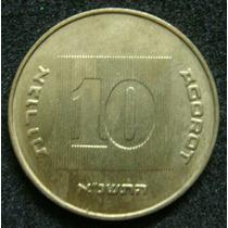 Moedas - Israel - 10 Agorot 1998 - Fc