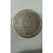 Moeda Estrangeira De 1 Dolar De Hong Kong De 1960 Antiga