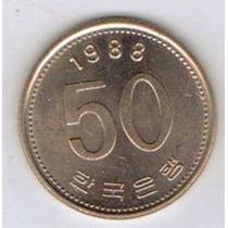 Linda Moeda Coreia Do Sul 1988 50 Won - Fao