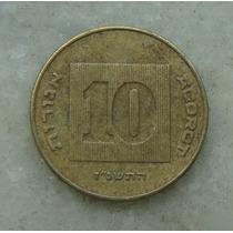 8713 Moeda Israel - 10 Agorot - 1998 - Bron/alum - 22 Mm