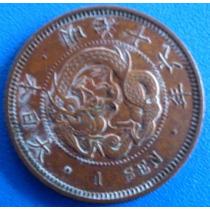 Japao-moeda Cobre 1883- 1 Sen -m Dragão- Perfeita