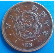 Japao- Antiga Moeda De Bronze De 1 Sen -dragão- Perfeita