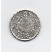 Rara Moeda Prata 50 Sen Do Japão- Ano 1906/12 - Frete Grátis
