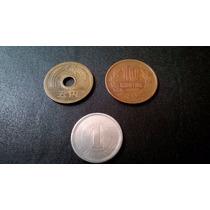 3 Moedas Diferentes Japão 1, 5 E 10 Yenes
