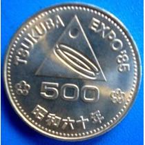 Japão-moeda Comem.expo-85-500 Yens- Tsukuba