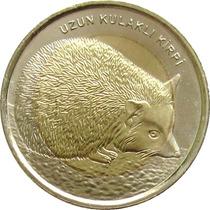 Turquia - 1 Lira 2014 (bimetálica) Ouriço-egípcio