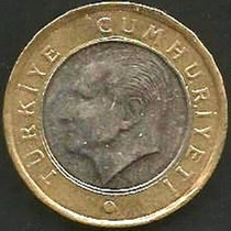 Turquia - 1 Lirasi 2009 Bimetalica --- =1887=