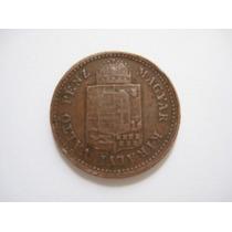 Hungria Moeda De Cupro 1 Krajczar 1886