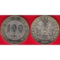 01 Moeda Do Cazaquistão 100 Tenge 2004 Bimetalica Fc