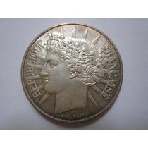França Moeda Prata 100 Francs 1988