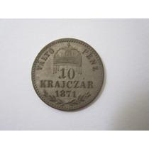 Hungria Moeda Prata 10 Krajczar 1871 Gyf Rara