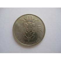 Bélgica Moeda De Cupro-níquel 1 Franco 1988