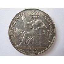 Indochina Prata 900 Moeda 50 Cent 1936