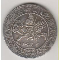 Moeda/medalha Data Antiga De 1486 38mm 22,6 Gramas R$ 1,00