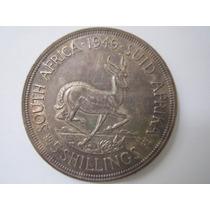 África Do Sul Prata 800 Moeda 5 Shilling 1949