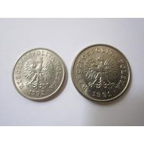 Polonia 2 Moedas 20 E 50 Groszy 1992 E 1991
