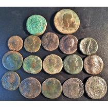 Lote 17 Moedas Império Romano Sestércios,dupondios ,asses
