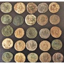 Lote 25 Moedas Era De Costantino Império Romano,antigas