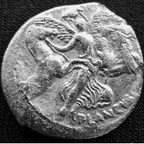 Moeda Antiga Denário Imp Romano Prata L.plautius Plancus Ar