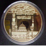 Rara Moeda/medalha Banhada A Ouro 24kl. Taj Mahal