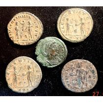 Lote 5 Moedas Antigas Império Romano Lindissimas