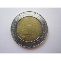 Itália Moeda 500 Liras 1996 Bimetalica