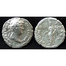 Moeda Antiga Denario Prata Imperador Adrianus Império Romano