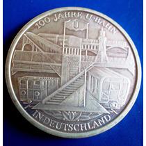 Alemanha-moeda Prata 10 Euros 2002d-100 Anos Do Trem Na Alem