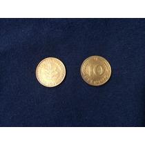 Moeda Alemanha 10 Pfennig 1971 Mbc