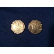 Moeda Alemanha 10 Pfennig 1950