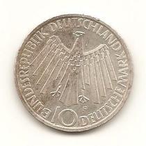 R0 - Moeda De Prata - 10 Deutsche Mark - Alemanha - 1972
