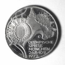Moeda De Prata Alemanha 10 Marcos Jogos Olímpicos De 1972