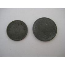 Alemanha 2 Moedas: 5 E 10 Pfennig 1921