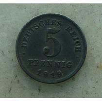 8781 Alemanha - 5 Pfennig 1919 - 18mm, Zinco