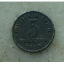 8782 Alemanha - 5 Pfennig 1919 - 18mm, Zinco